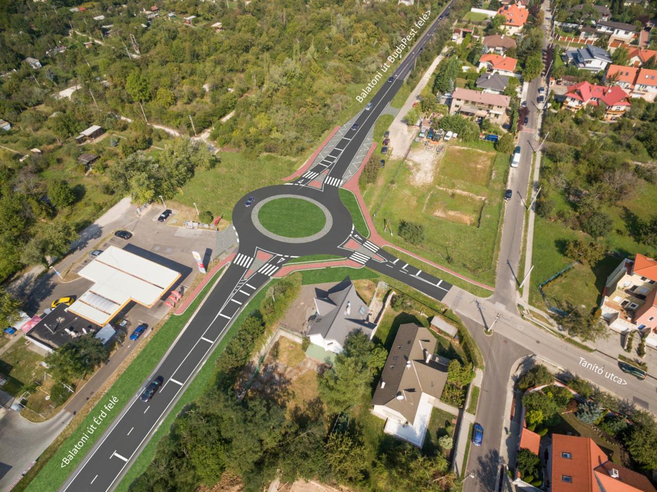 Hamarosan megkezdődhet a Balatoni úti körforgalmak építése